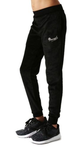 PINEAPPLE DANCEWEAR GIRLS Velour Slim Leg Trackpants Black with Pineapple Logo